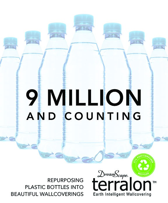 Dreamscape Terralon sustainability from over 9 million recycled bottles